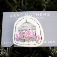 Jane Mathers Mourne Mussenden Temple Embroidered Brooch